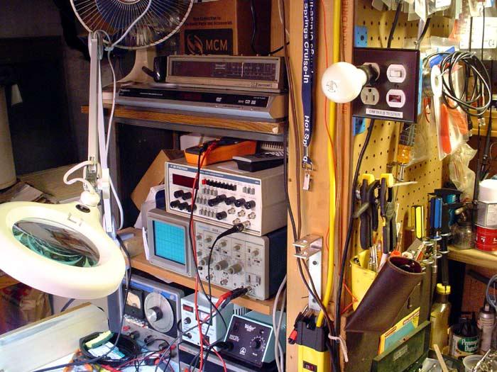 Built me a Bucker Bench-clutter