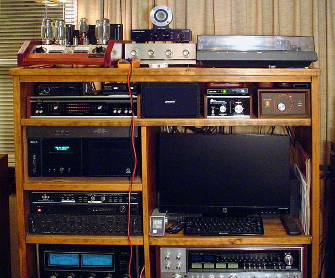 Center channel amp Eico-hf12a-racked